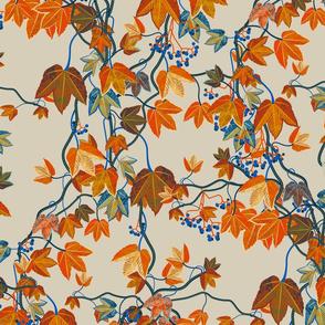 Autumn Vines-Maximalist-bone-no bird