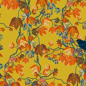 Autumn Vines-Maximalist-mustard