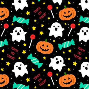 Spookyboo - Halloween Pattern - Black