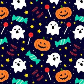 Spookyboo - Halloween Pattern - Blue
