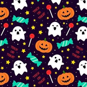 Spookyboo - Halloween Pattern - Purple