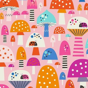 Magical Mushrooms Small Scale Pink