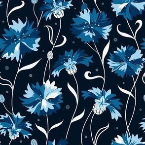 Blue cornflower dark