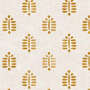 block print fern in golden - LAD20
