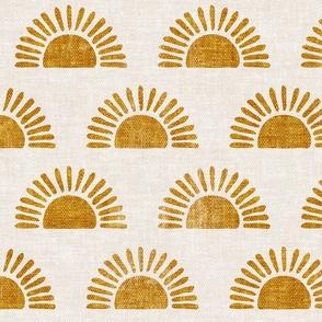 sunshine - block print boho sun print - golden - LAD20