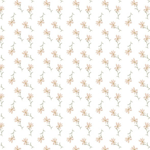 Sweet Daisies doll house wallpaper