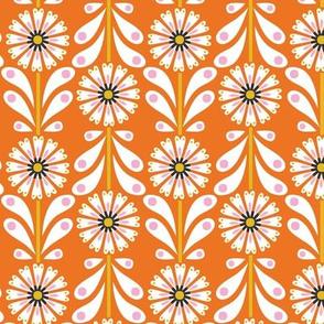 Retro Flower small scale Orange