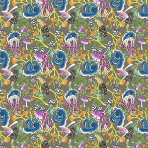 Fabulou Fungi Greige Small Print