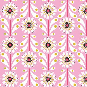 Retro Flower small scale Pink