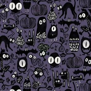 Gothic Halloween Monsters { purple }