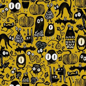 Gothic Halloween Monsters { Yellow }