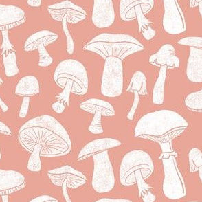 Pink Mushrooms by Angel Gerardo