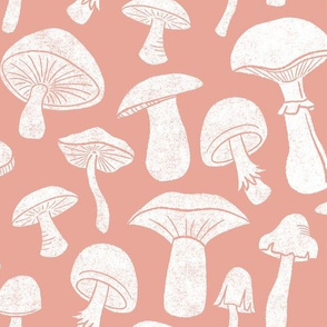 Pink Mushrooms by Angel Gerardo - Large Scale
