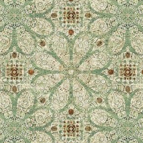 Forest Palette Picnic with the Flowers - Wallpapered - Large