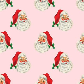 Vintage Santa on Pink