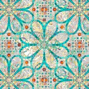 Antique Patina: Picnic with the Flowers - Wallpapered - Large