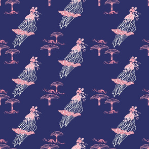 Beautiful Decay Navy Pink