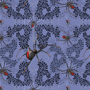 Gothic Blue Spiders