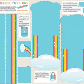 DIY Rainbow Tote Bag  (click to see sewn version)