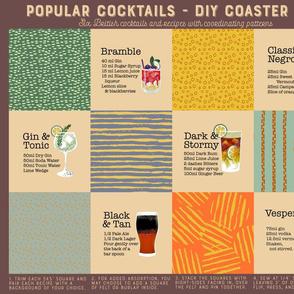 British Cocktails DIY Coasters