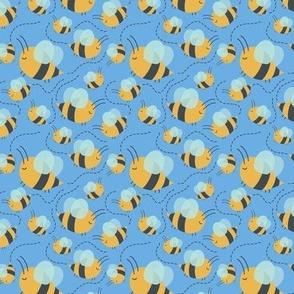 Rainbow Ladybugs Bees Weather Blue