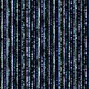 watercolor stripes blue turquoise lavender purple on black