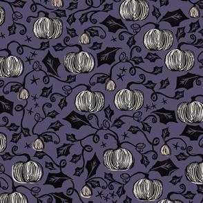 Vintage Pumpkins { purple }