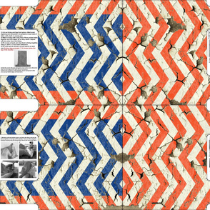Cut and Sew Grocery Bag; Peeling Chevrons with PDF