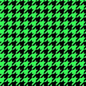 Black and Green Houndstooth
