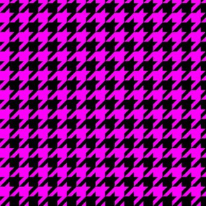 Black and Hot Pink Houndstooth