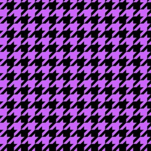 Black and Light Purple Houndstooth