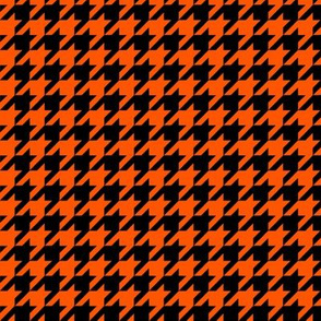 Black and Orange Houndstooth