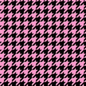 Black and Pink Houndstooth