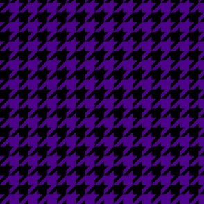 Black and Purple Houndstooth