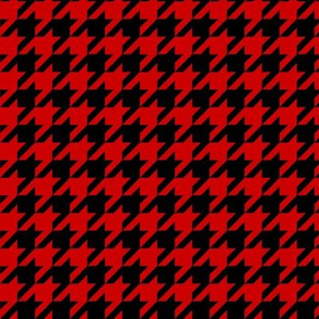 Black and Red Houndstooth - Larger