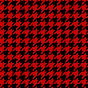 Black and Red Houndstooth