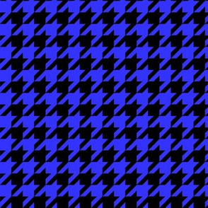Black and Royal Blue Houndstooth - Larger