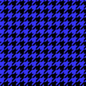 Black and Royal Blue Houndstooth