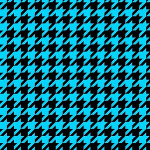 Black and Turquoise Houndstooth