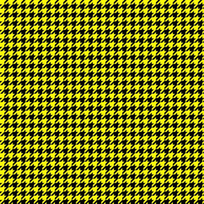 Black and Yellow Houndstooth - Larger