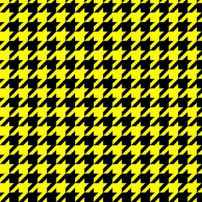 Black and Yellow Houndstooth
