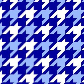 Blue Gradient Houndstooth - Larger