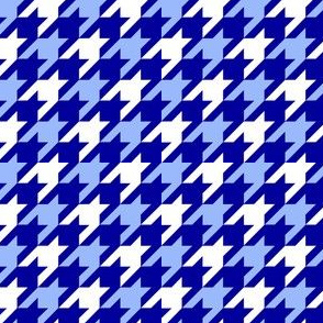 Blue Gradient Houndstooth
