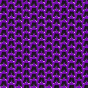 Offset Black Figure Skates on  Purple