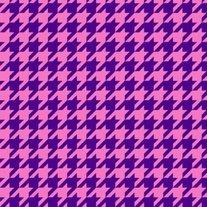 Pink and Purple Houndtooth