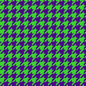 Purple and Green Houndstooth