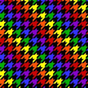 Rainbow and Black Houndstooth