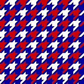 Red White and Blue Houndstooth