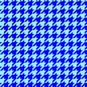 Royal Blue and Sky Blue Houndstooth