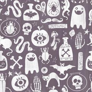 Spooky Stencils on Purple